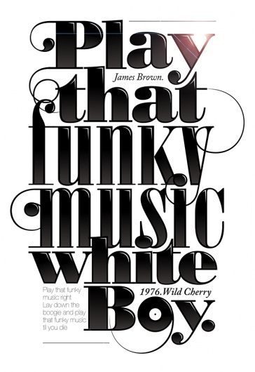Typographic lyrics
